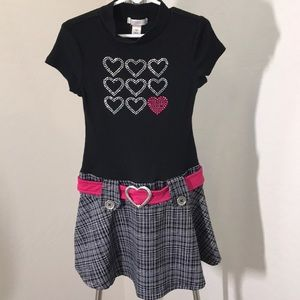 Piper Girl's Dress W/Front Embellishments